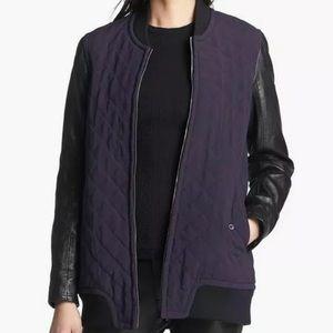 NWT RAG & BONE Pacific Silk Jacket w/ Leather